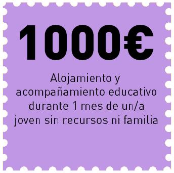 Con 1000€ damos alojamiento y acompañamiento educativo a un joven sin recursos ni familia
